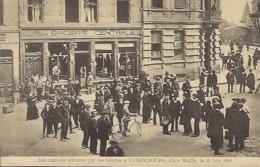 Des Maisons Atteintes Par Des Bombes à Luxembourg , Place Wallis,  Le 18 Juin 1916  -  Edit. Théo Wirol,Luxembourg-Gare - 1914-18