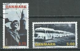 Danemark YT N°1103/1104 Europa 1995 Paix Et Liberté Oblitéré ° - Europa-CEPT