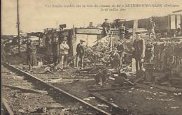 """Une Bombe Tombée Sur La Voie Du Chemin De Fer à Luxembourg """" Zwickau """",le 23.7.1917  -  Edit. Théo Wirol,Luxembourg-Gare - 1914-18"""