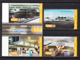 2014 Malaysia Airport KLA Aviation Complete Set Of 4  MNH - Malaysia (1964-...)