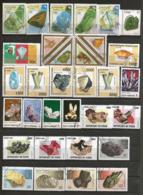 Minéraux : Petite Collection De 67 Timbres, Tous Différents - Minéraux