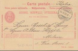 SCHWEIZ  MiNr. P 31 VII, DV: VIII 06, Mit Stempel: Zürich 26.II.1909 - Enteros Postales