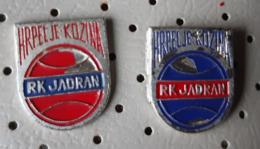 Handball Club RK Jadran Hrpelje Kozina Slovenia Pins - Balonmano