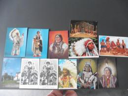 LOT  DE  12 CARTES  POSTALES     D  INDIENS - 5 - 99 Cartes