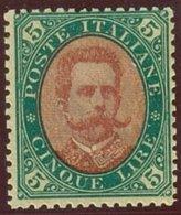 ITALIA REGNO UMBERTO I SASS. 49 NUOVO - 1878-00 Humbert I.