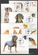 UKRAINE 2008 Mi 961MK-966MK Dogs / Hunderassen - Honden