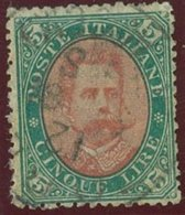 ITALIA REGNO UMBERTO I SASS. 49 USATO - 1878-00 Umberto I