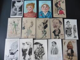LOT  DE   14   CARTES  POSTALES    PERSONNAGES  BIZARRES - 5 - 99 Cartes