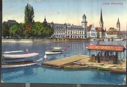Zurich Bauschänzil Motorboote Steam Launch 1912 - ZH Zurich