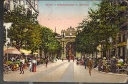 Zurich Bahnhofstrasse Mit Bahnhof 1914 - ZH Zurich