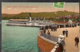 Zurich Abfahrt Eines Vergnügungsdampfers 1910 Schiff Boot Bateaux - ZH Zurich