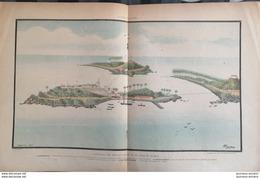 1898 PANORAMA DES ÎLES DU SALUT ET DE L'ÎLE DU DIABLE - Magazines - Before 1900