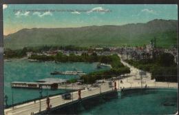 Zurich Generalansicht Der Quaibrücke Alpenquai Mit Uelliberg 1909 - ZH Zurich
