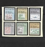 O) 1963 COCOS ISLANDS - KEELING, MAP, COCO PALMS, SAILBOAT, FAIRY TERN -SET HINGED. SC 1-6, MNH - Cocos (Keeling) Islands