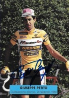 PHOTO CYCLISME GIUSEPPE PETITO SIGNEE TEAM MERCATONE UNO 1992 - Ciclismo