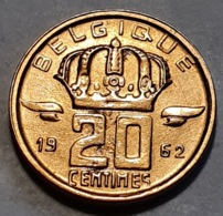 Belguim - 20 Centimes 1962 FR   -  UNC - 01. 20 Centimes
