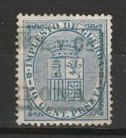 ESPAGNE IMPOTS DE GUERRE 1873 YT N° 2 Obl. - Impuestos De Guerra