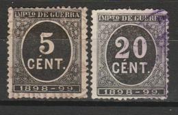 ESPAGNE IMPOTS DE GUERRE 1898 YT N° 23 Et 26 Obl. - Impuestos De Guerra