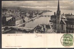 Zürich Zurich Blick Von Der Peterskirche 1905 - ZH Zurich