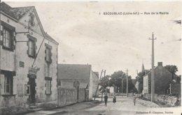 Carte Postale Ancienne De Escoublac La Rue De La Mairie - La Baule-Escoublac