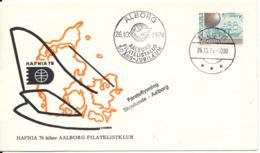 Denmark Cover First Flight Skovlunde - Aalborg 26-10-1974 Aalborg Filatelistklub 50th. Anniversary (Hafnia 76) - Denmark