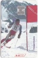 TC086 TÉLÉCARTE A PUCE - ANDORRE 100 UNITÉS - ESQUI CLUB D'ANDORRA - 50 ANYS - SKI - Andorra