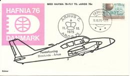 Denmark First Flight Skovlunde - Aarhus AROS 75 11-10-1975 SEE THIS CACHET (Hafnia 76) - Denmark