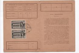 1944 - Carte D'abonnement émissions De T.P- 25 Frs Chenonceaux X 2 - Carte Du 14 02 1945  Des PTT - France