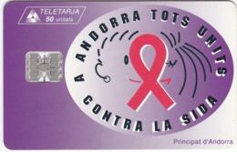 TC090 TÉLÉCARTE A PUCE - ANDORRE 50 UNITÉS - STA - ANDORRA TOTS UNITS CONTRA LA SIDA - Andorra