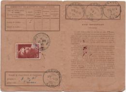 1945 - Carte D'abonnement émissions De T.P- 50 Frs Marianne De Gandon - Carte Du 11.10.1945  Des PTT - France