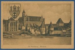 Marienburg Westseite, Gelaufen Von Altfelde Westpreußen 1924 (AK2644) - Westpreussen