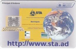 TC093 TÉLÉCARTE A PUCE - ANDORRE 50 UNITÉS - STA - BENVINGUTS - L'STA TAMBE A INTERNET - Andorra