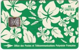 """TC095 TÉLÉCARTE A PUCE - POLYNÉSIE FRANÇAISE 60 UNITÉS - """"MOTIF PARÉO"""" - CRÉÉ PAR S. MILLECAMPS - TAHITI 1993 - Frans-Polynesië"""