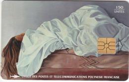 """TC096 TÉLÉCARTE A PUCE - POLYNÉSIE FRANÇAISE 150 UNITÉS - """"LA FEMME ENSEVELIE"""" - VAEA 1978 - Französisch-Polynesien"""