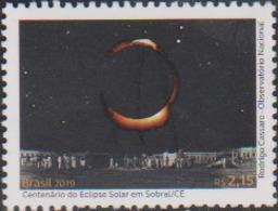 BRAZIL , 2019, MNH, SOLAR ECLIPSE, CENTENARY OF SOLAR ECLPISE IN SOBRAL, 1v - Astronomy
