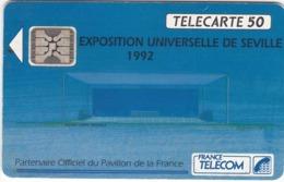 TC097 TÉLÉCARTE A PUCE - EXPOSITION UNIVERSELLE DE SEVILLE - PARTENAIRE OFFICIEL DU PAVILLON DE LA FRANCE - Télécartes