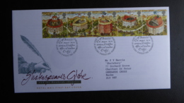 GREAT BRITAIN [UK] SG 1882 RESTORATION OF SHAKESPEARES GLOBE THEATRE FDC - FDC