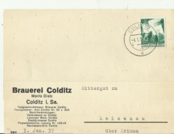 DR  CV  1937 COLDITZ - Storia Postale