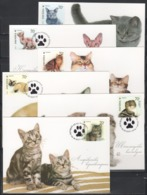 UKRAINE 2007 Mi 871-876MK Cats / Katzenrassen - Hauskatzen