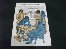 STORIA POSTALE IL BATTISTERO DI CREMONA  ILLUSTRATORE SERGIO TARQUINIO - Cremona
