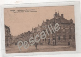 FLANDRE OCCIDENTALE - CP ANIMEE STADEN - MARKTPLAATS EN GEMEENTEHUIS PLACE DU MARCHE ET MAISON COMMUNALE - CIRCULEE 1931 - Staden