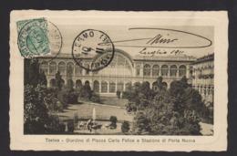 15969 Torino - Giardino Di Piazza Carlo Felice E Stazione Di Porta Nuova F - Parcs & Jardins