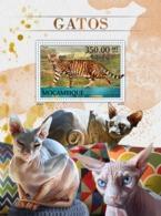 Mozambique, 2016. [moz16501] Cats (s\s+block) - Hauskatzen