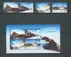 Australian Antarctic Territory 2013 Mountains Set Of 4 & Miniature Sheet MNH - Unused Stamps