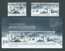 Australian Antarctic Territory 2013 Expedition Anniversary III Disaster & Isolation Strips & Miniature Sheet MNH - FDC