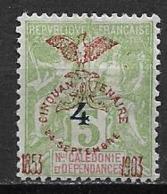 Nouvelle Calédonie 1902 N°83a Neuf * Cote 50 Euros - Neukaledonien