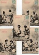 Bergeret Enfant, Série De 5 Cartes Le Petit Chaperon Rouge - Bergeret