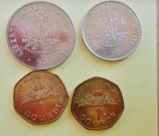 Lot De 4 Pièces Monnaie République D' HAITI  ( 50 Gourdes 1999 +20 Gourdes 2000 + 1 Gourde 2009 ( 2 Pièces) - Haiti