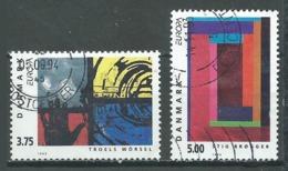 Danemark YT N°1055/1056 Europa 1993 Art Contemporain Oblitéré ° - Europa-CEPT