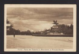 16005 Torino - Parco Del Valentino E Monumento Al Principe Amedeo F - Parcs & Jardins